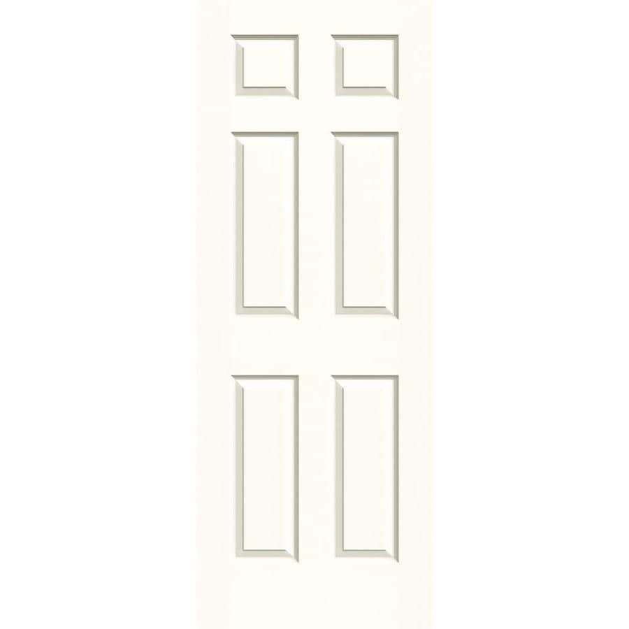 JELD-WEN Moonglow Hollow Core 1-Panel Square Mirror Slab Interior Door (Common: 30-in x 80-in; Actual: 30-in x 80-in)