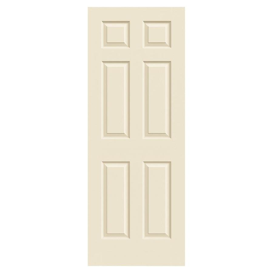 JELD-WEN Cream-N-Sugar Hollow Core 1-Panel Square Mirror Slab Interior Door (Common: 24-in x 80-in; Actual: 24-in x 80-in)