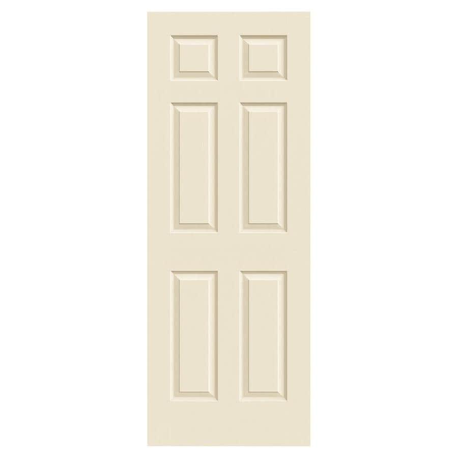 JELD-WEN Colonist Cream-N-Sugar Hollow Core Mirror Molded Composite Slab Interior Door (Common: 24-in x 80-in; Actual: 24-in x 80-in)