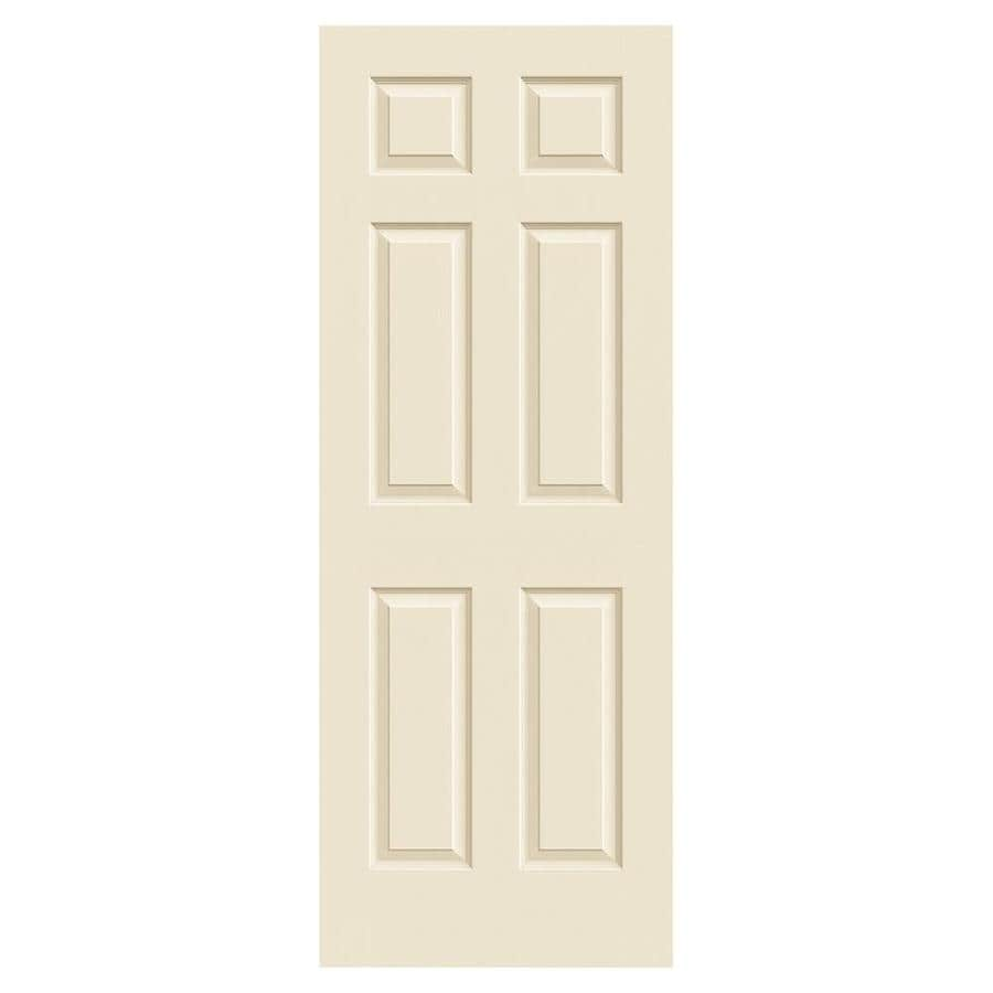 JELD-WEN Cream-N-Sugar Hollow Core 1-Panel Square Mirror Slab Interior Door (Common: 30-in x 80-in; Actual: 30-in x 80-in)