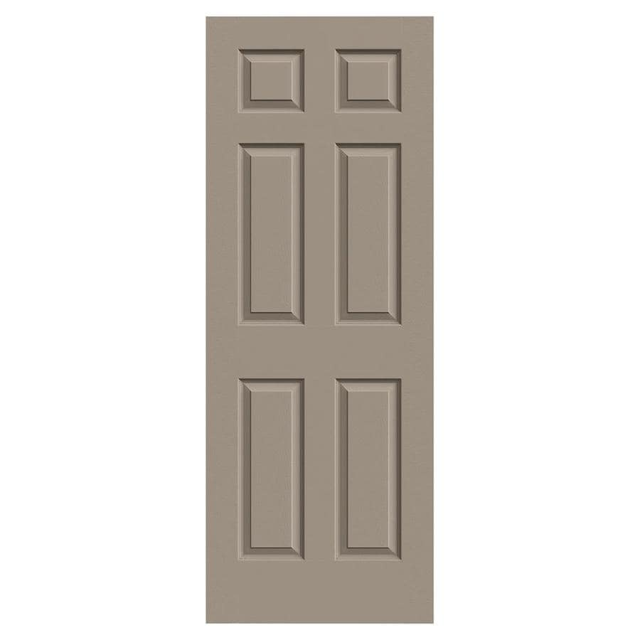 JELD-WEN Sand Piper Hollow Core 1-Panel Square Mirror Slab Interior Door (Common: 24-in x 80-in; Actual: 24-in x 80-in)