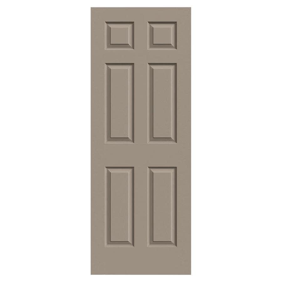 JELD-WEN Colonist Sand Piper Hollow Core Mirror Molded Composite Slab Interior Door (Common: 28-in x 80-in; Actual: 28-in x 80-in)
