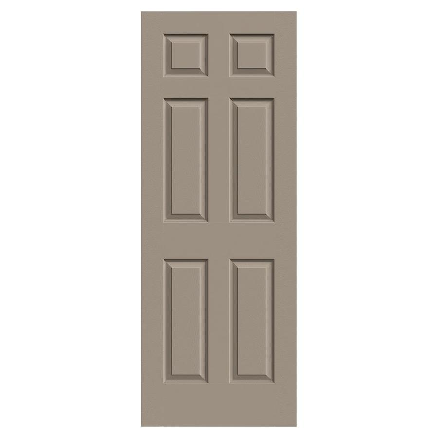 JELD-WEN Colonist Sand Piper 1-panel Square Mirror Slab Interior Door (Common: 30-in x 80-in; Actual: 30-in x 80-in)