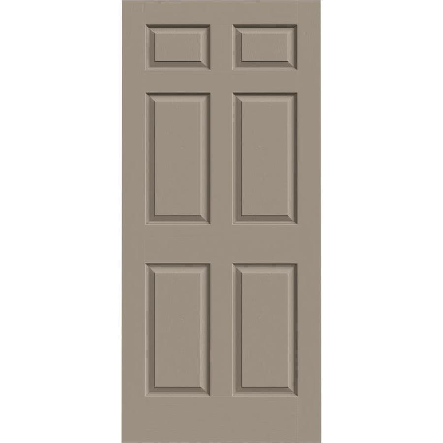 Shop Jeld Wen Colonist Sand Piper 6 Panel Hollow Core Mirrored Glass Molded Composite Slab Door