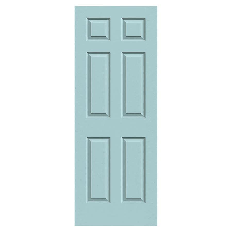 JELD-WEN Colonist Sea Mist Hollow Core Mirror Molded Composite Slab Interior Door (Common: 30-in x 80-in; Actual: 30-in x 80-in)