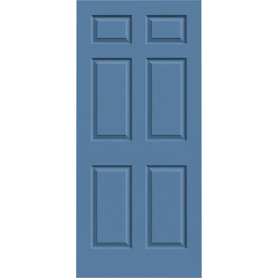 JELD-WEN Colonist Blue Heron Hollow Core Mirror Molded Composite Slab Interior Door (Common: 36-in x 80-in; Actual: 36-in x 80-in)