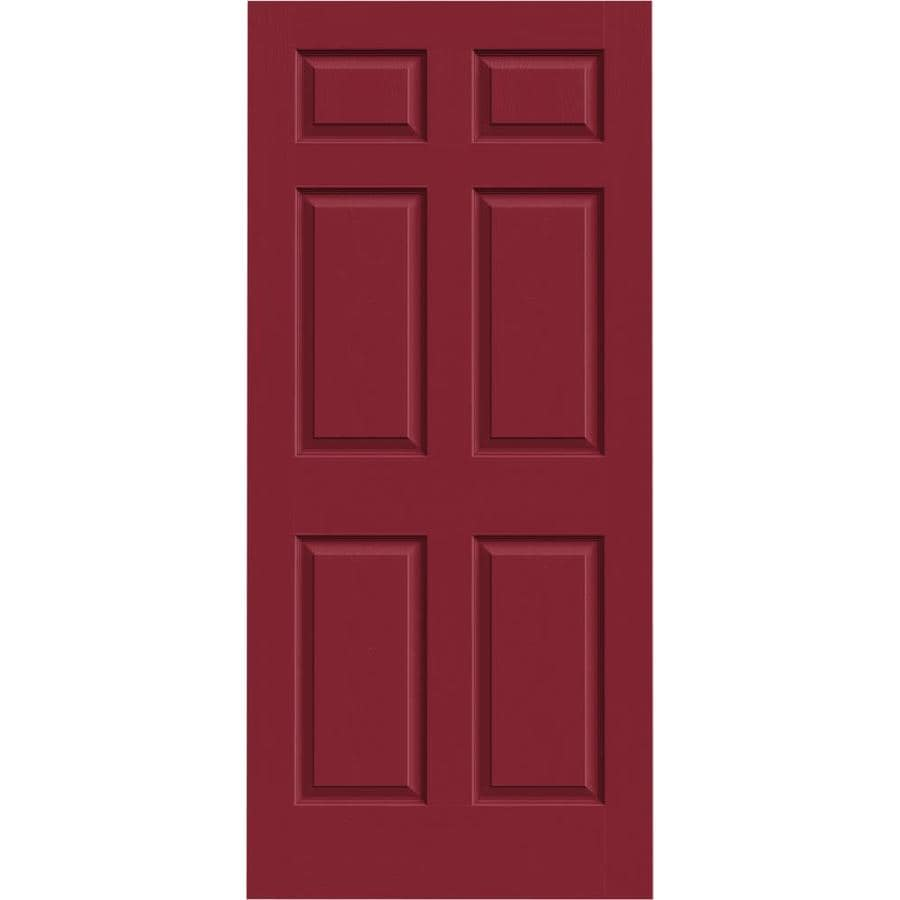 JELD-WEN Colonist Barn Red Mirror Slab Interior Door (Common: 36-in x 80-in; Actual: 36-in x 80-in)