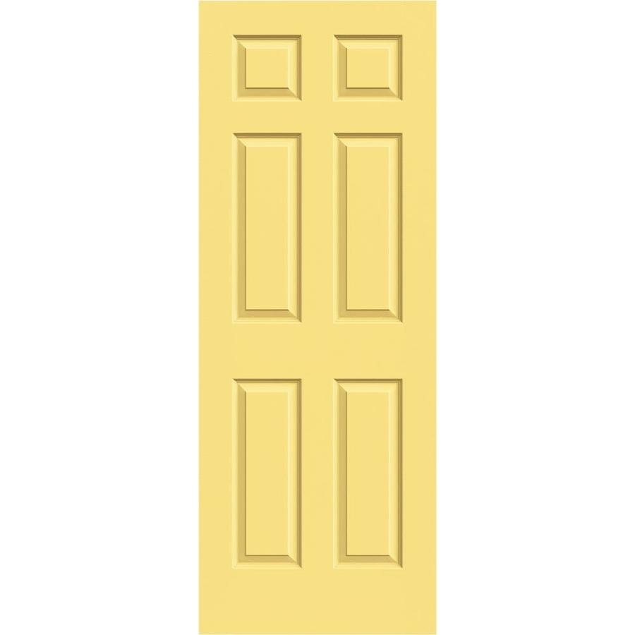 JELD-WEN Colonist Marigold Hollow Core Mirror Molded Composite Slab Interior Door (Common: 24-in x 80-in; Actual: 24-in x 80-in)
