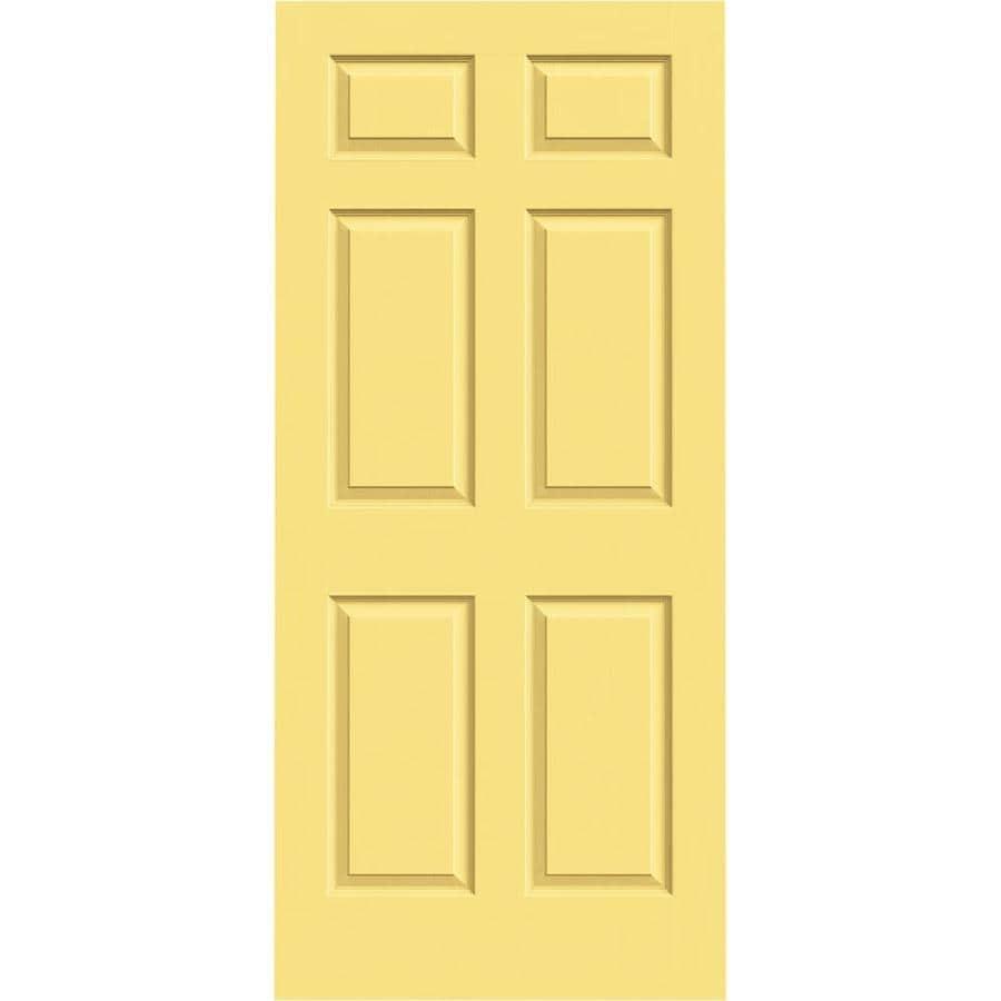 JELD-WEN Colonist Marigold Hollow Core Mirror Molded Composite Slab Interior Door (Common: 36-in x 80-in; Actual: 36-in x 80-in)