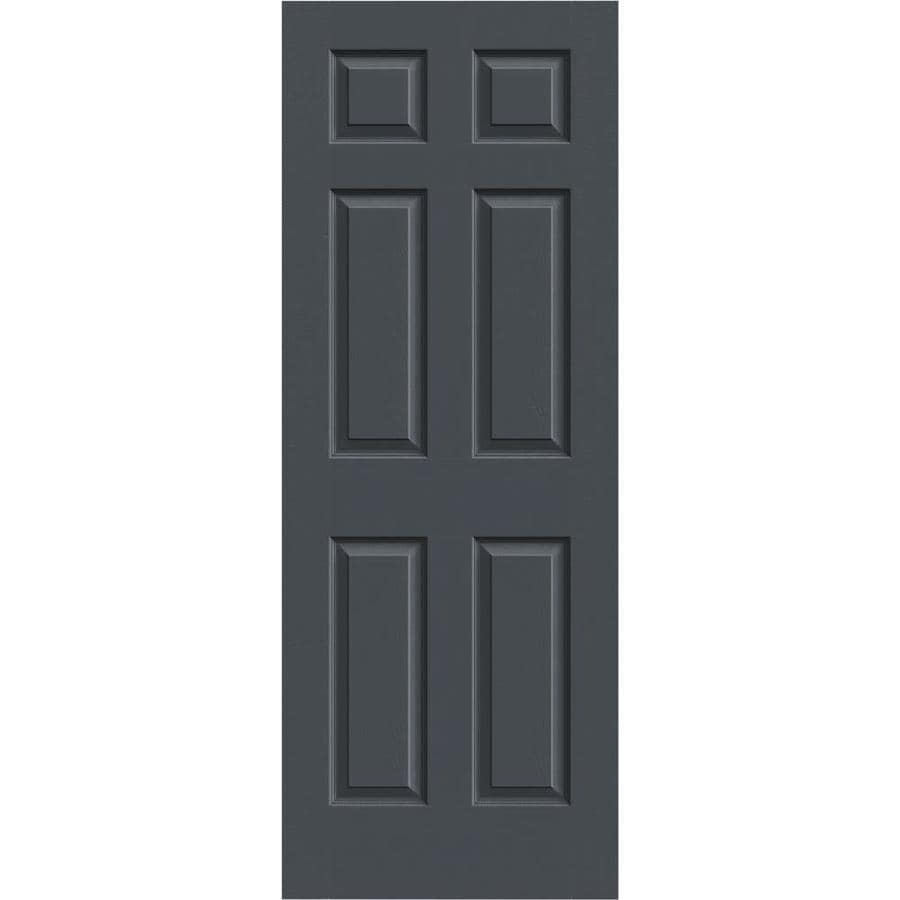 JELD-WEN Colonist Slate 1-panel Square Mirror Slab Interior Door (Common: 24-in X 80-in; Actual: 24-in x 80-in)