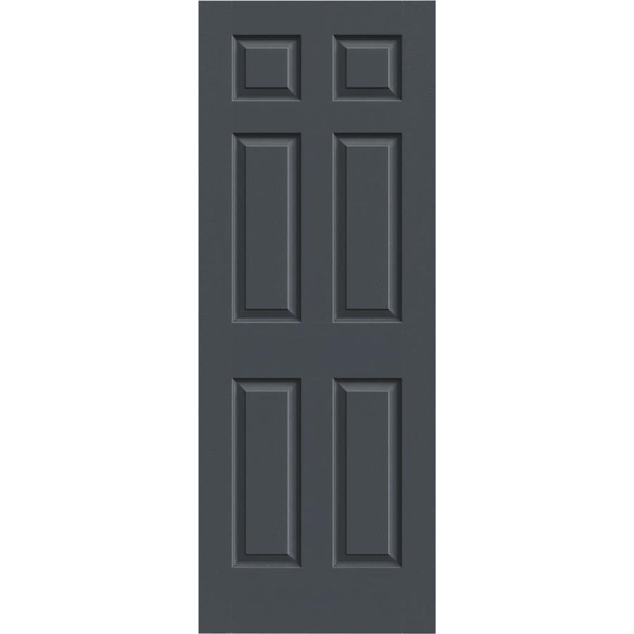 JELD-WEN Slate Hollow Core 1-Panel Square Mirror Slab Interior Door (Common: 28-in x 80-in; Actual: 28-in x 80-in)