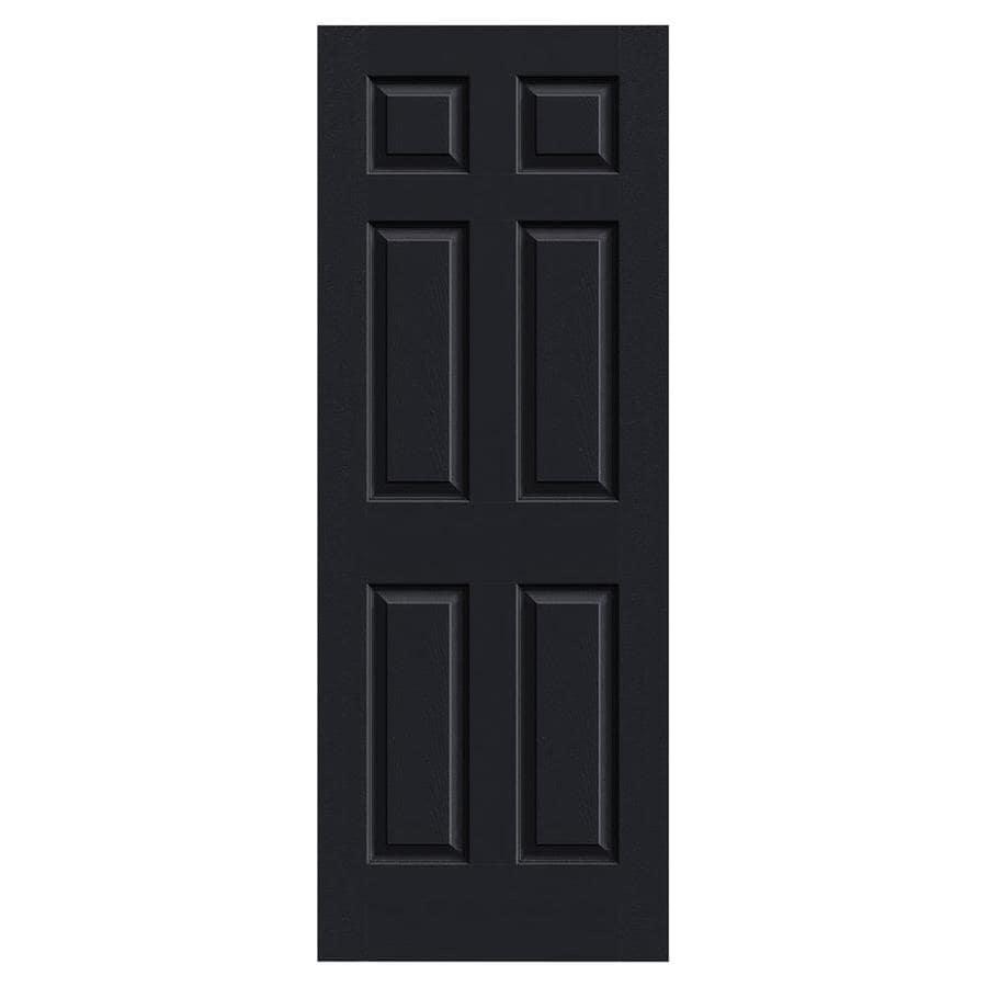 JELD-WEN Colonist Midnight 1-panel Square Mirror Slab Interior Door (Common: 32-in x 80-in; Actual: 32-in x 80-in)