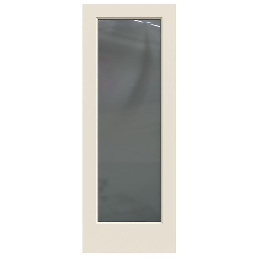 JELD-WEN Hollow Core 1-Panel Square Mirror Slab Interior Door (Common: 28-in x 80-in; Actual: 28-in x 80-in)
