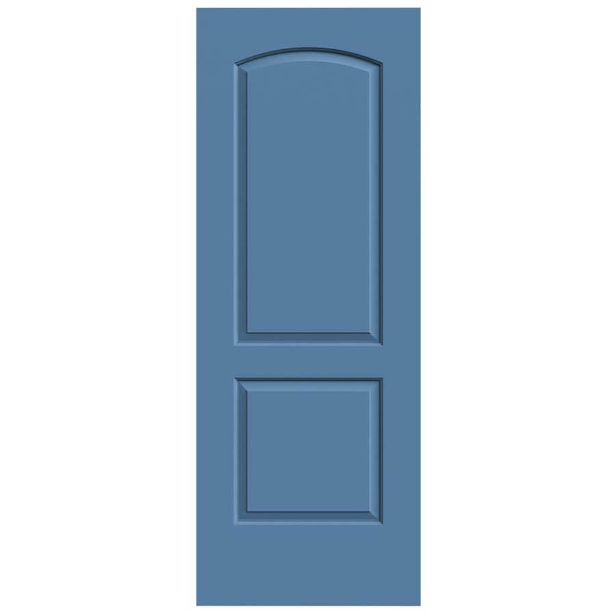 JELD-WEN Continental Blue Heron Slab Interior Door (Common: 32-in x 80-in; Actual: 32-in x 80-in)
