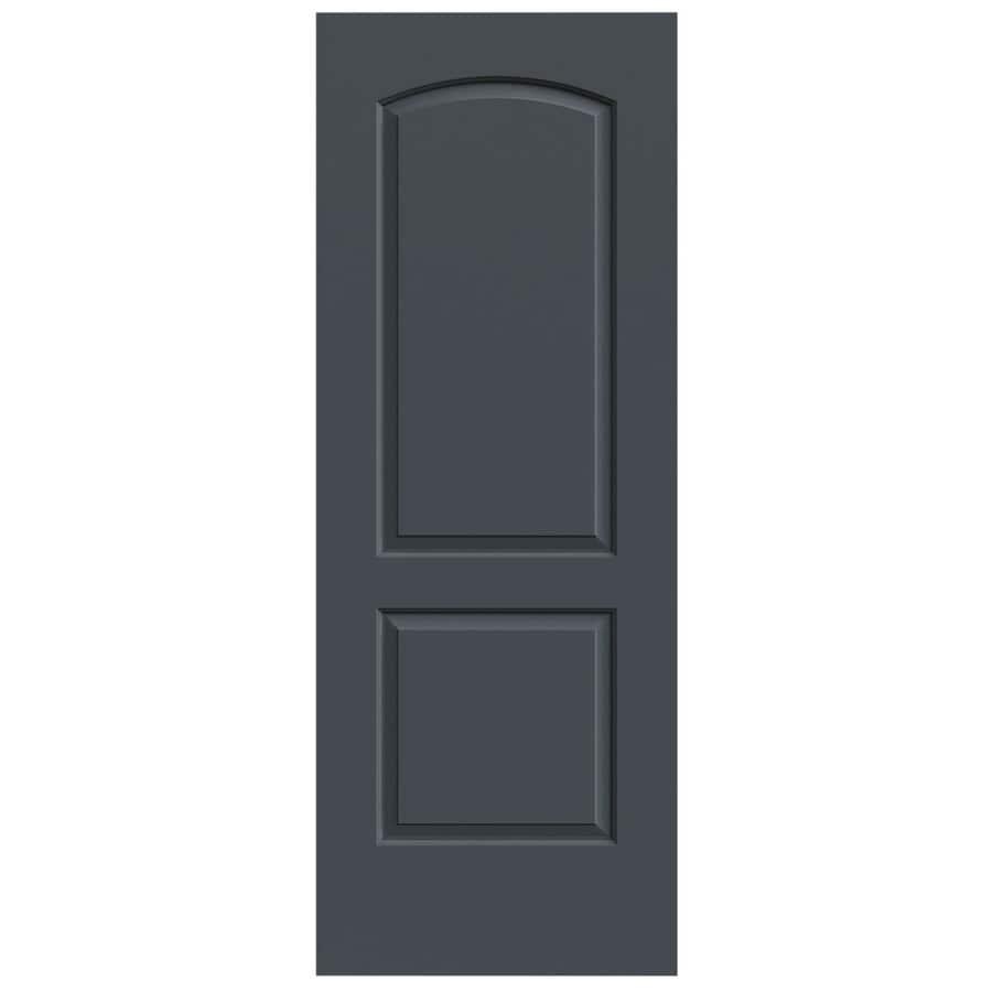 JELD-WEN Slate Hollow Core 2-Panel Round Top Slab Interior Door (Common: 32-in x 80-in; Actual: 32-in x 80-in)