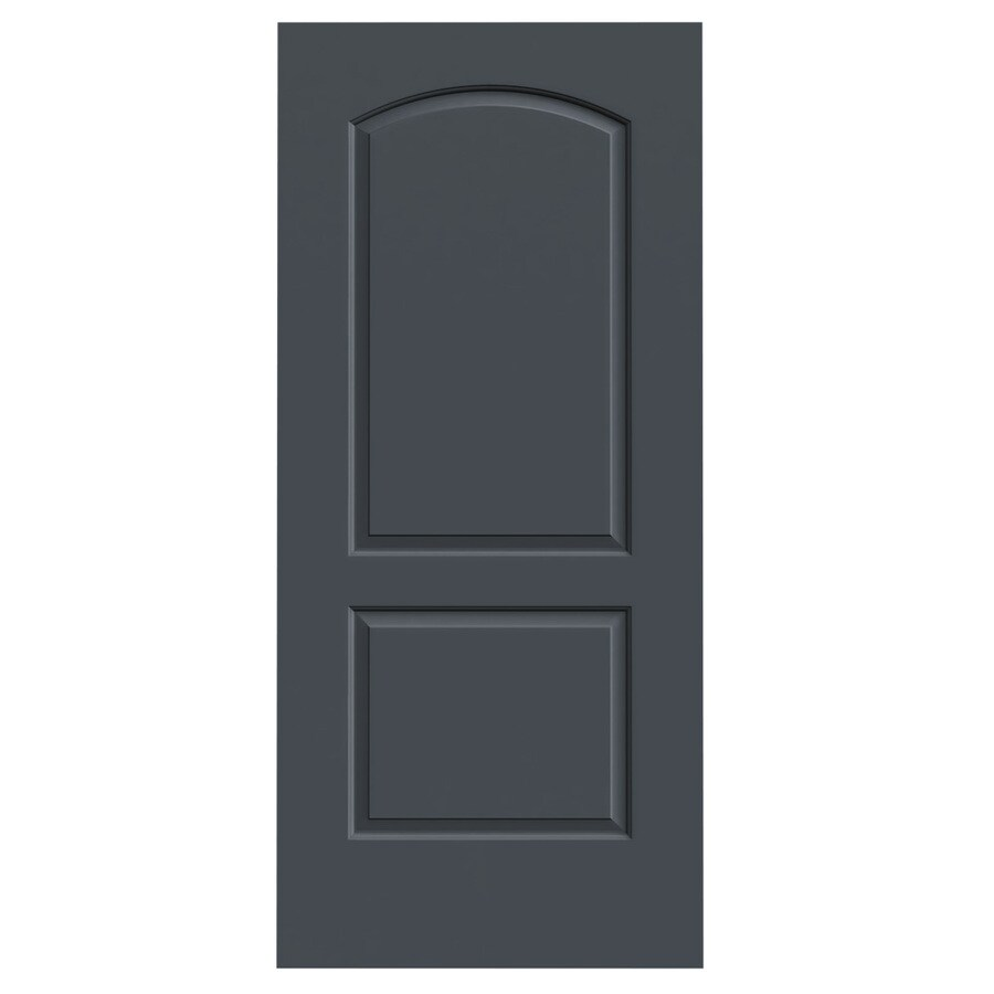 JELD-WEN Slate Hollow Core 2-Panel Round Top Slab Interior Door (Common: 36-in x 80-in; Actual: 36-in x 80-in)
