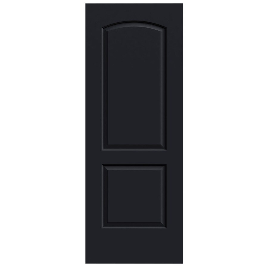 JELD-WEN Midnight Hollow Core 2-Panel Round Top Slab Interior Door (Common: 28-in x 80-in; Actual: 28-in x 80-in)