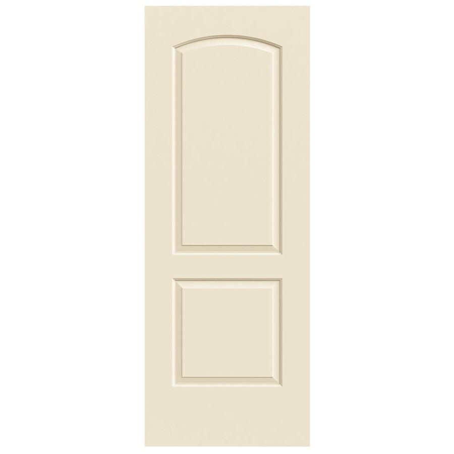 JELD-WEN Continental Cream-N-Sugar Hollow Core Molded Composite Slab Interior Door (Common: 30-in x 80-in; Actual: 30-in x 80-in)