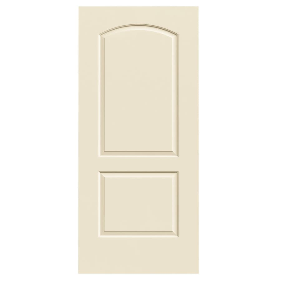 JELD-WEN Cream-N-Sugar Hollow Core 2-Panel Round Top Slab Interior Door (Common: 36-in x 80-in; Actual: 36-in x 80-in)