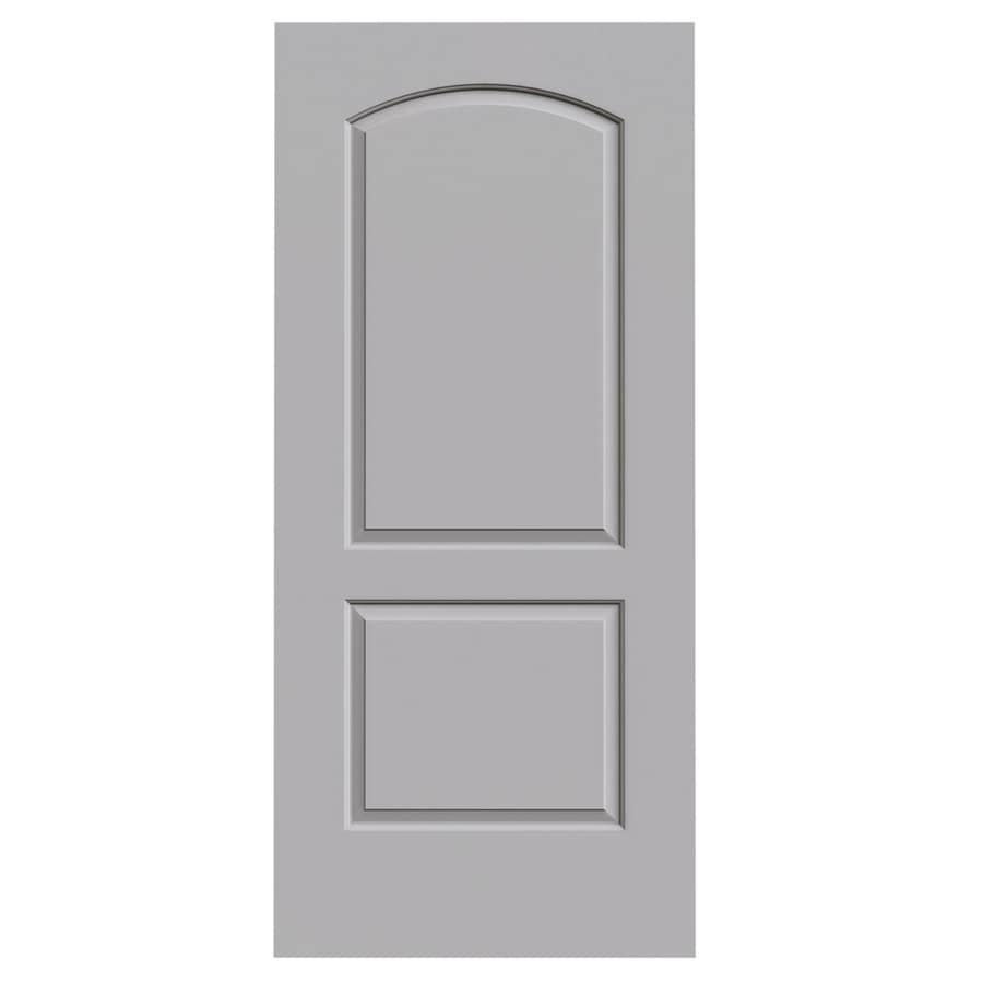 JELD-WEN Driftwood 2-panel Round Top Slab Interior Door (Common: 36-in x 80-in; Actual: 36-in x 80-in)