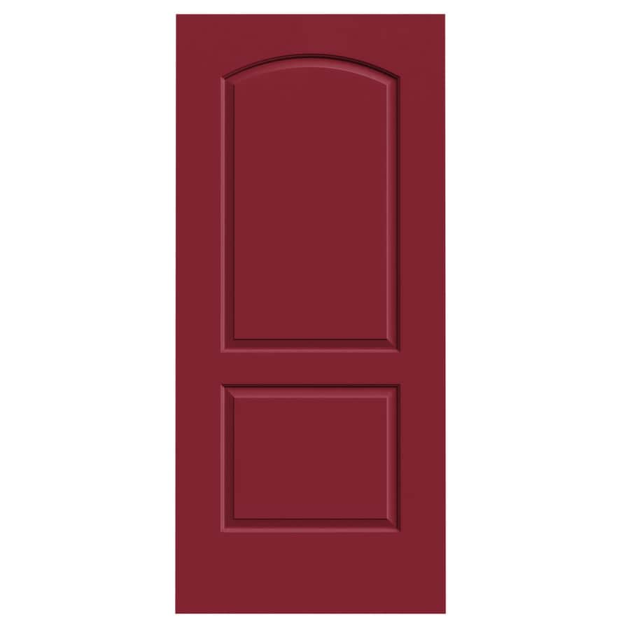 JELD-WEN Continental Barn Red Hollow Core Molded Composite Slab Interior Door (Common: 36-in x 80-in; Actual: 36-in x 80-in)