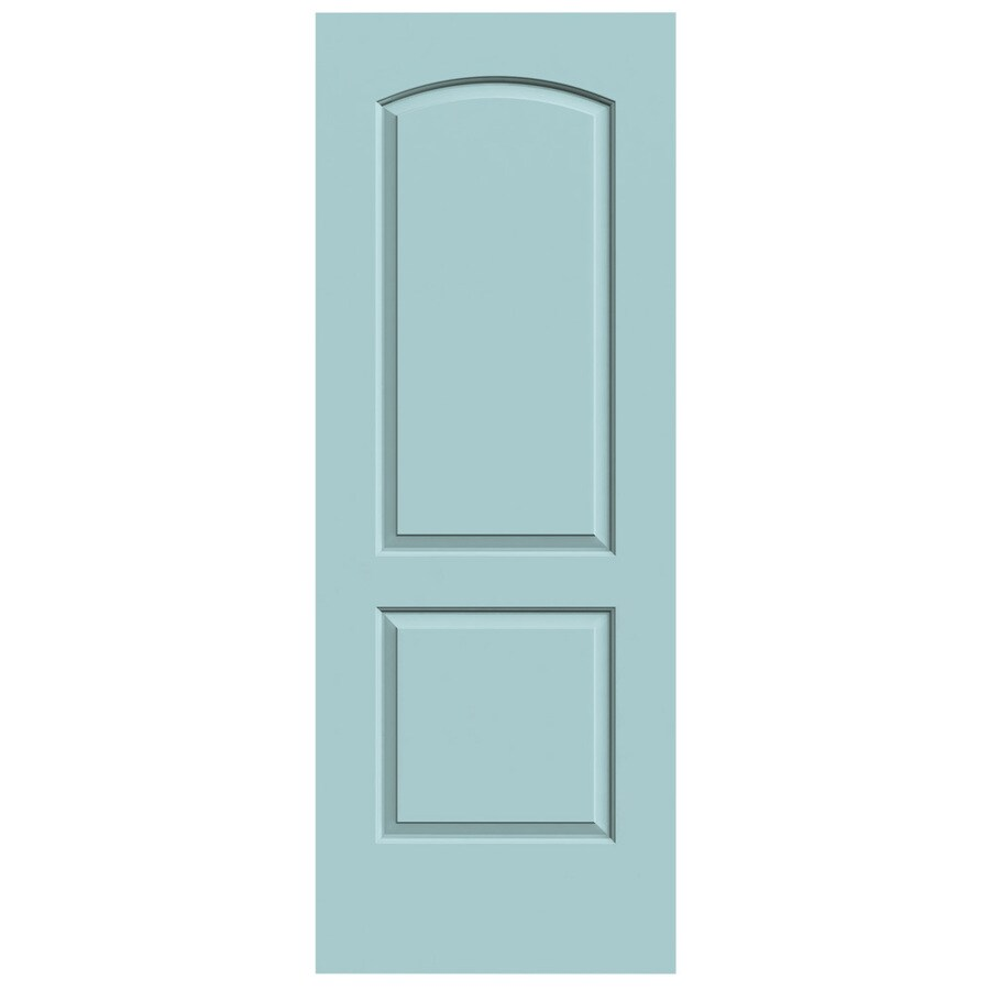 JELD-WEN Sea Mist Hollow Core 2-Panel Round Top Slab Interior Door (Common: 24-in x 80-in; Actual: 24-in x 80-in)