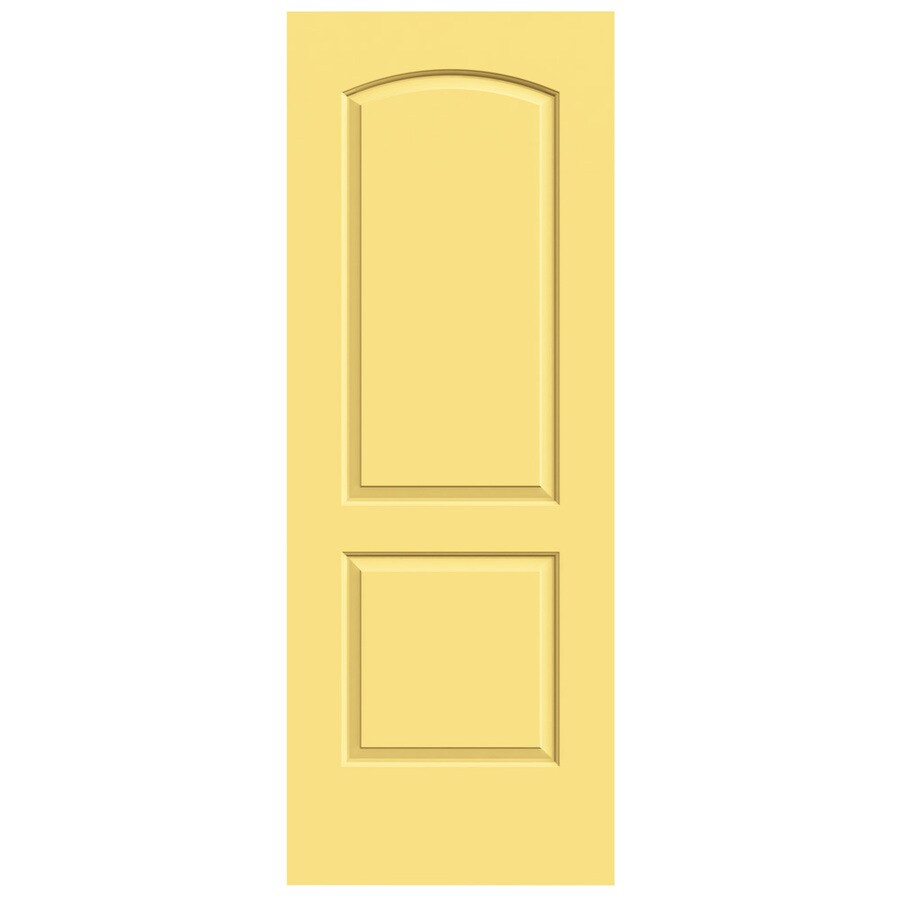 JELD-WEN Marigold Hollow Core 2-Panel Round Top Slab Interior Door (Common: 28-in x 80-in; Actual: 28-in x 80-in)