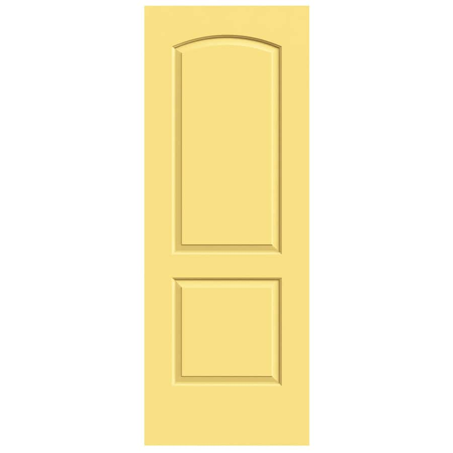 JELD-WEN Marigold Hollow Core 2-Panel Round Top Slab Interior Door (Common: 30-in x 80-in; Actual: 30-in x 80-in)
