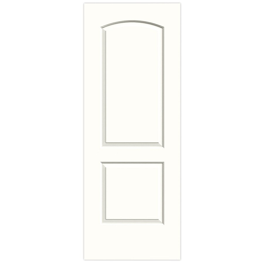 JELD-WEN Snow Storm Hollow Core 2-Panel Round Top Slab Interior Door (Common: 32-in x 80-in; Actual: 32-in x 80-in)