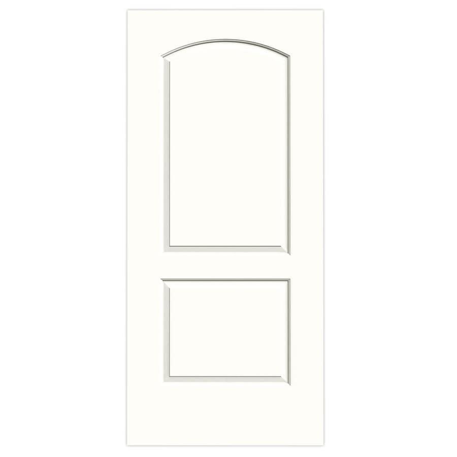 JELD-WEN Snow Storm Hollow Core 2-Panel Round Top Slab Interior Door (Common: 36-in x 80-in; Actual: 36-in x 80-in)