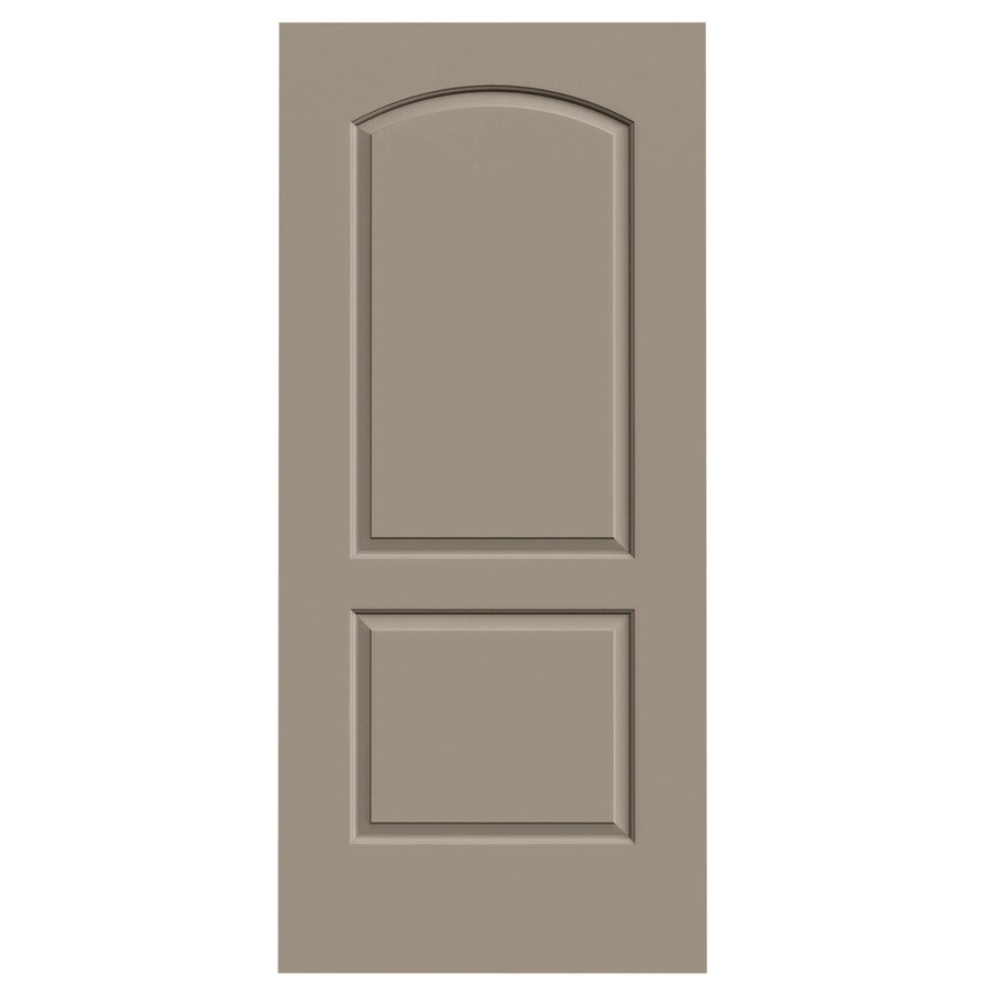JELD-WEN Sand Piper Hollow Core 2-Panel Round Top Slab Interior Door (Common: 36-in x 80-in; Actual: 36-in x 80-in)