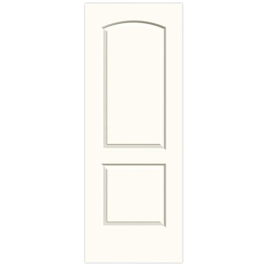 JELD-WEN White Hollow Core 2-Panel Round Top Slab Interior Door (Common: 28-in x 80-in; Actual: 28-in x 80-in)