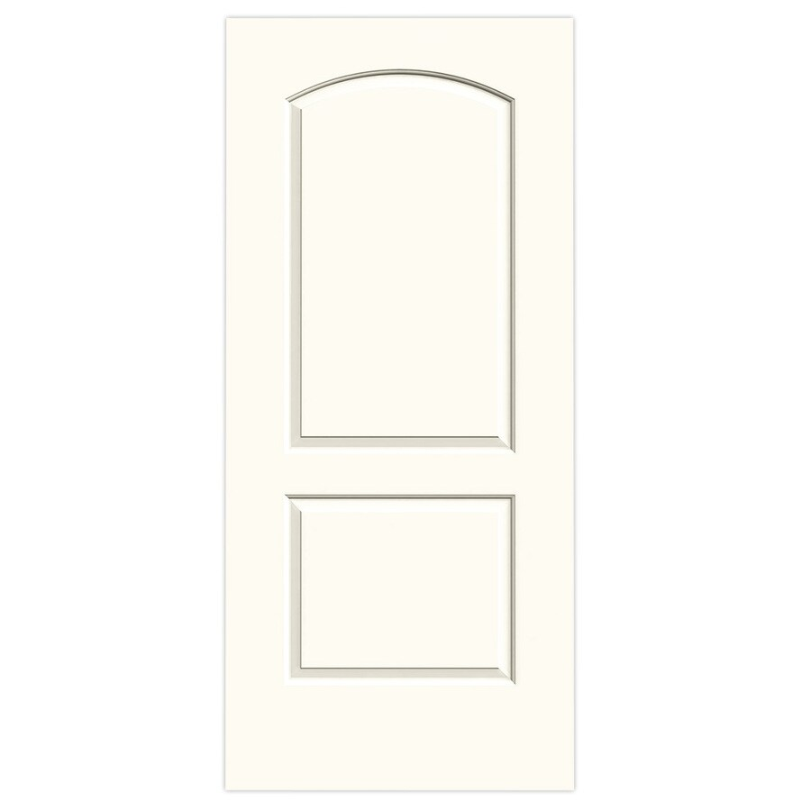 JELD-WEN White Hollow Core 2-Panel Round Top Slab Interior Door (Common: 36-in x 80-in; Actual: 36-in x 80-in)