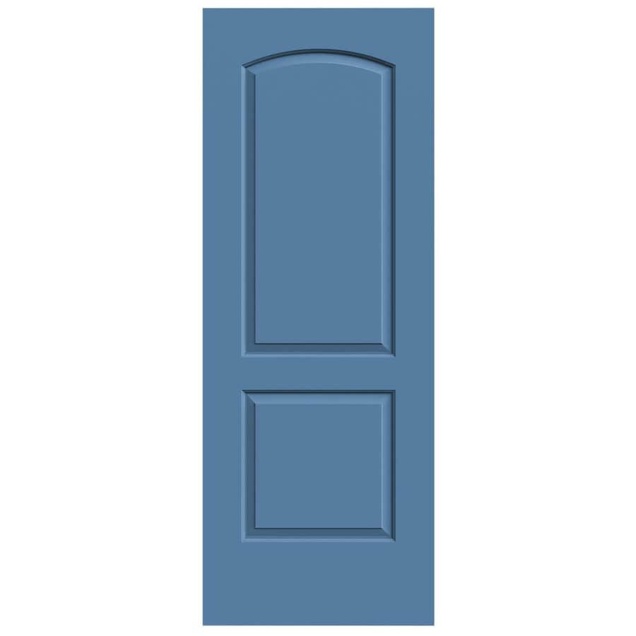 JELD-WEN Blue Heron Solid Core 2-Panel Round Top Slab Interior Door (Common: 28-in x 80-in; Actual: 28-in x 80-in)
