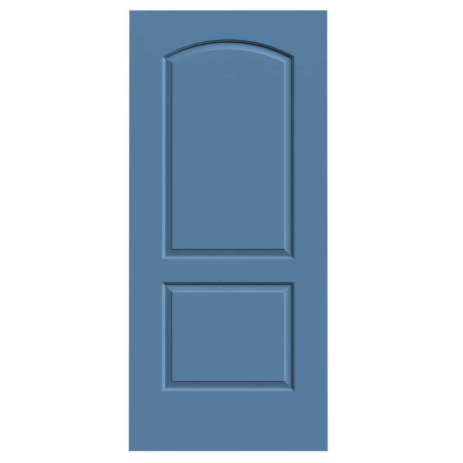 JELD-WEN Blue Heron Solid Core 2-Panel Round Top Slab Interior Door (Common: 36-in x 80-in; Actual: 36-in x 80-in)