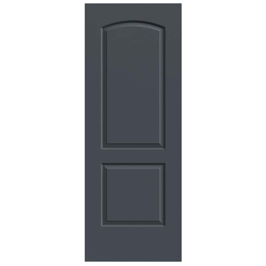 JELD-WEN Slate Solid Core 2-Panel Round Top Slab Interior Door (Common: 30-in x 80-in; Actual: 30-in x 80-in)