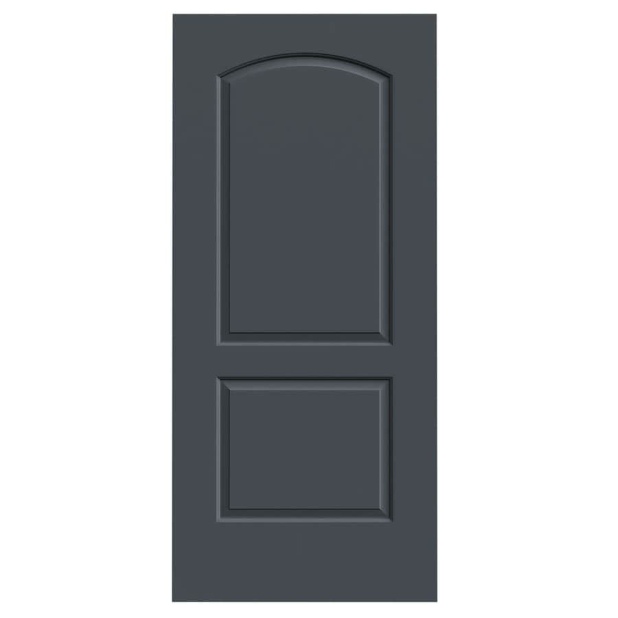 JELD-WEN Slate Solid Core 2-Panel Round Top Slab Interior Door (Common: 36-in x 80-in; Actual: 36-in x 80-in)