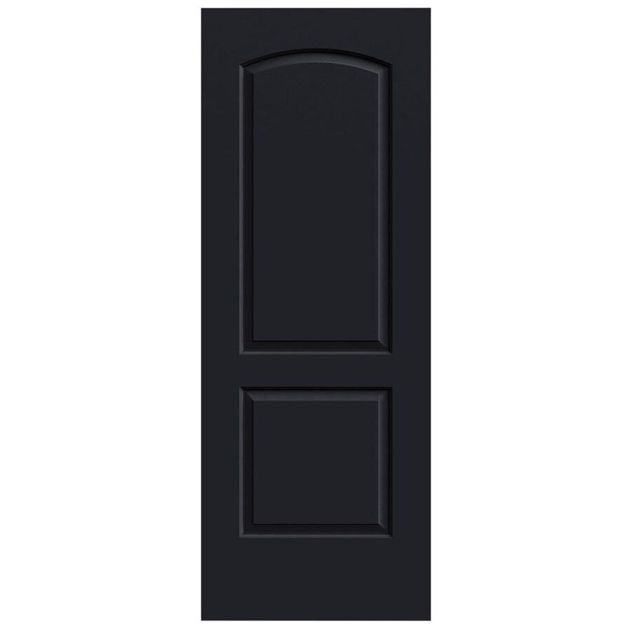JELD-WEN Midnight Solid Core 2-Panel Round Top Slab Interior Door (Common: 24-in x 80-in; Actual: 24-in x 80-in)