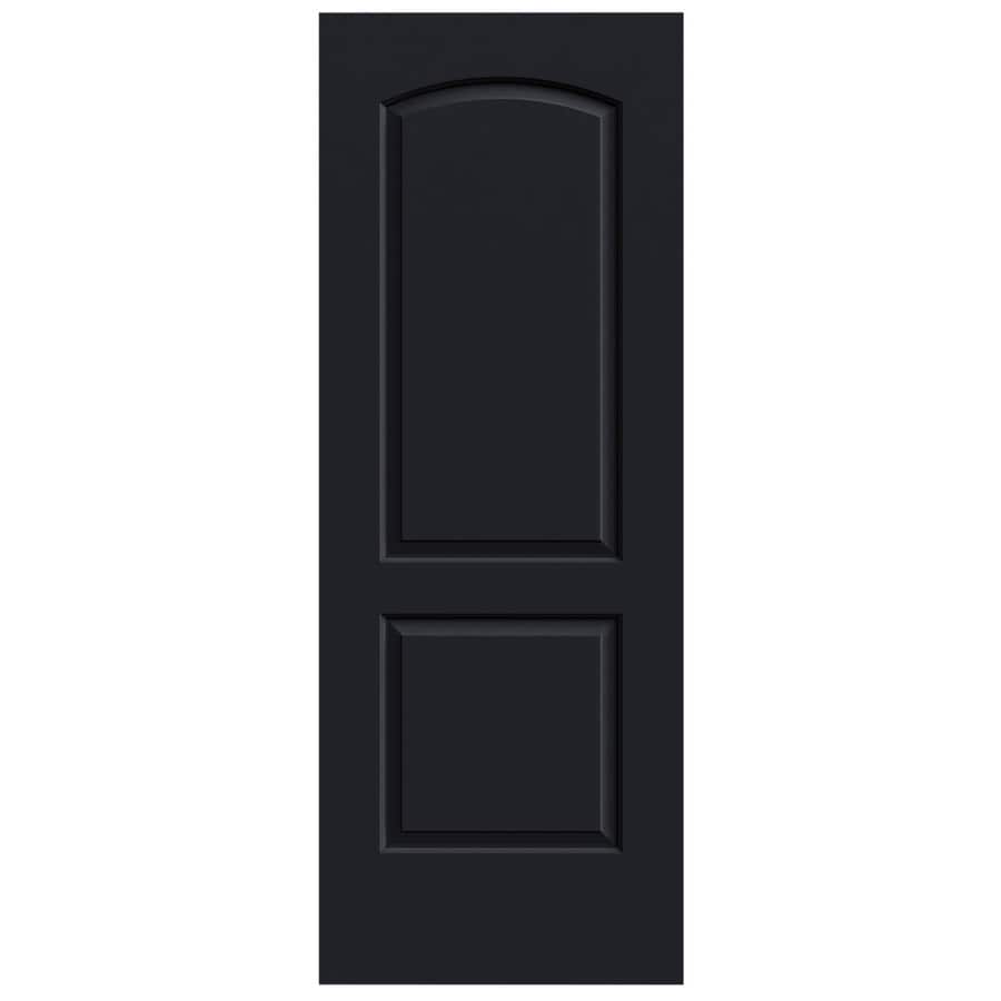 JELD-WEN Midnight Solid Core 2-Panel Round Top Slab Interior Door (Common: 28-in x 80-in; Actual: 28-in x 80-in)