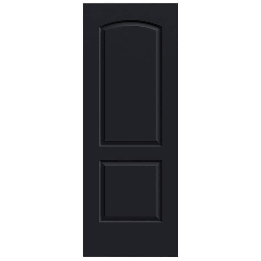 JELD-WEN Midnight Solid Core 2-Panel Round Top Slab Interior Door (Common: 30-in x 80-in; Actual: 30-in x 80-in)