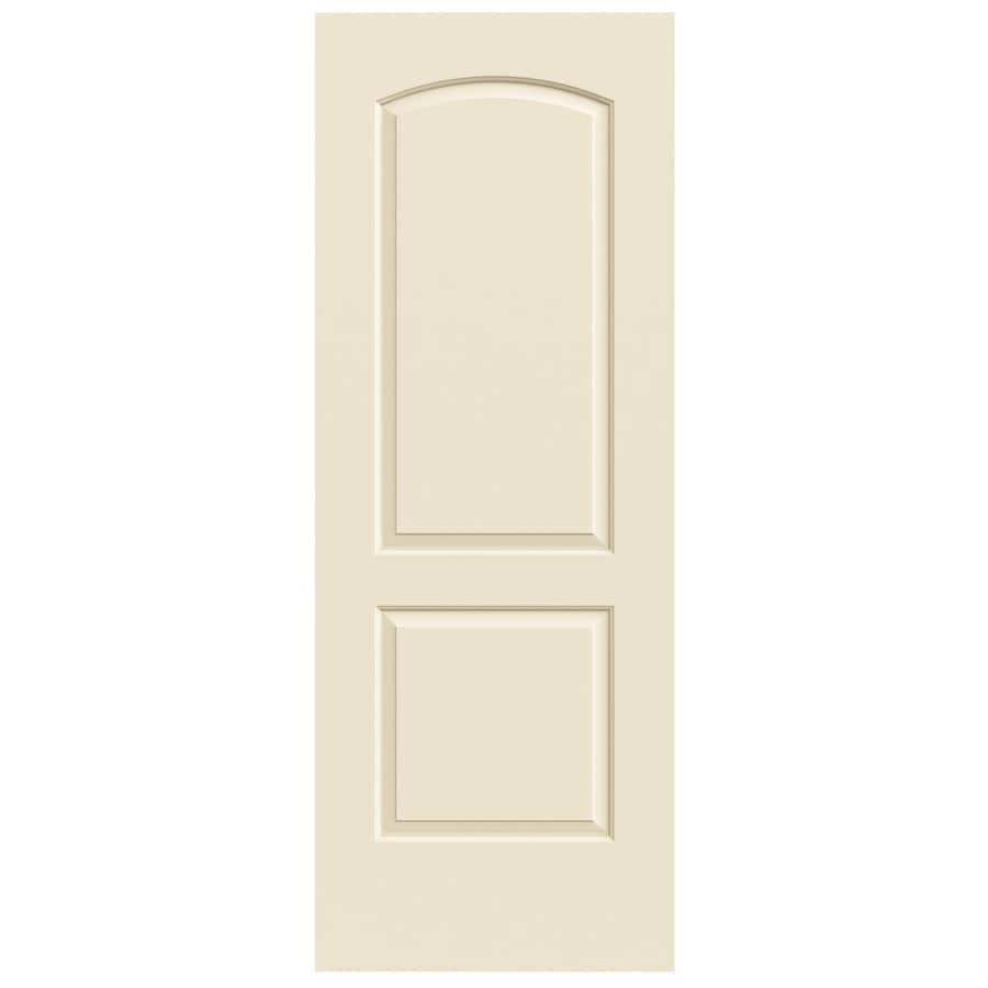 JELD-WEN Cream-N-Sugar Solid Core 2-Panel Round Top Slab Interior Door (Common: 24-in x 80-in; Actual: 24-in x 80-in)