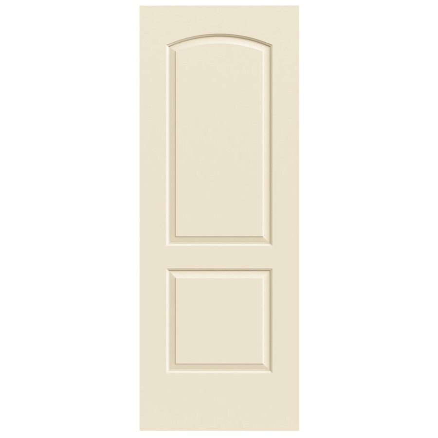 JELD-WEN Cream-N-Sugar Solid Core 2-Panel Round Top Slab Interior Door (Common: 30-in x 80-in; Actual: 30-in x 80-in)