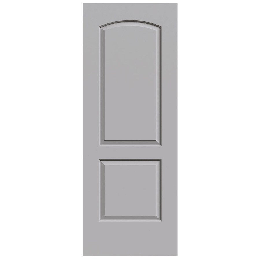 JELD-WEN Driftwood Solid Core 2-Panel Round Top Slab Interior Door (Common: 28-in x 80-in; Actual: 28-in x 80-in)