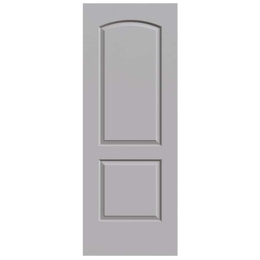 JELD-WEN Driftwood Solid Core 2-Panel Round Top Slab Interior Door (Common: 32-in x 80-in; Actual: 32-in x 80-in)