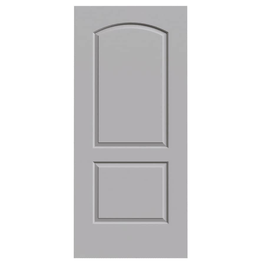 JELD-WEN Driftwood Solid Core 2-Panel Round Top Slab Interior Door (Common: 36-in x 80-in; Actual: 36-in x 80-in)