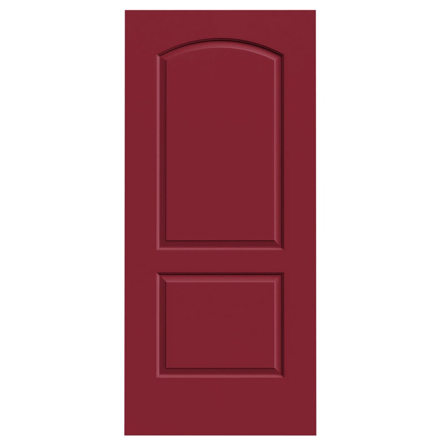 JELD-WEN Barn Red Solid Core 2-Panel Round Top Slab Interior Door (Common: 36-in x 80-in; Actual: 36-in x 80-in)