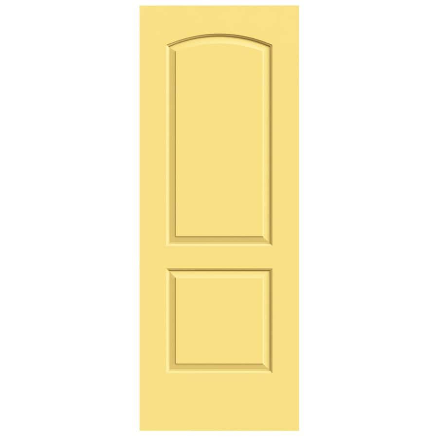 JELD-WEN Marigold Solid Core 2-Panel Round Top Slab Interior Door (Common: 24-in x 80-in; Actual: 24-in x 80-in)