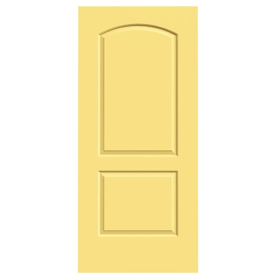JELD-WEN Marigold Solid Core 2-Panel Round Top Slab Interior Door (Common: 36-in x 80-in; Actual: 36-in x 80-in)