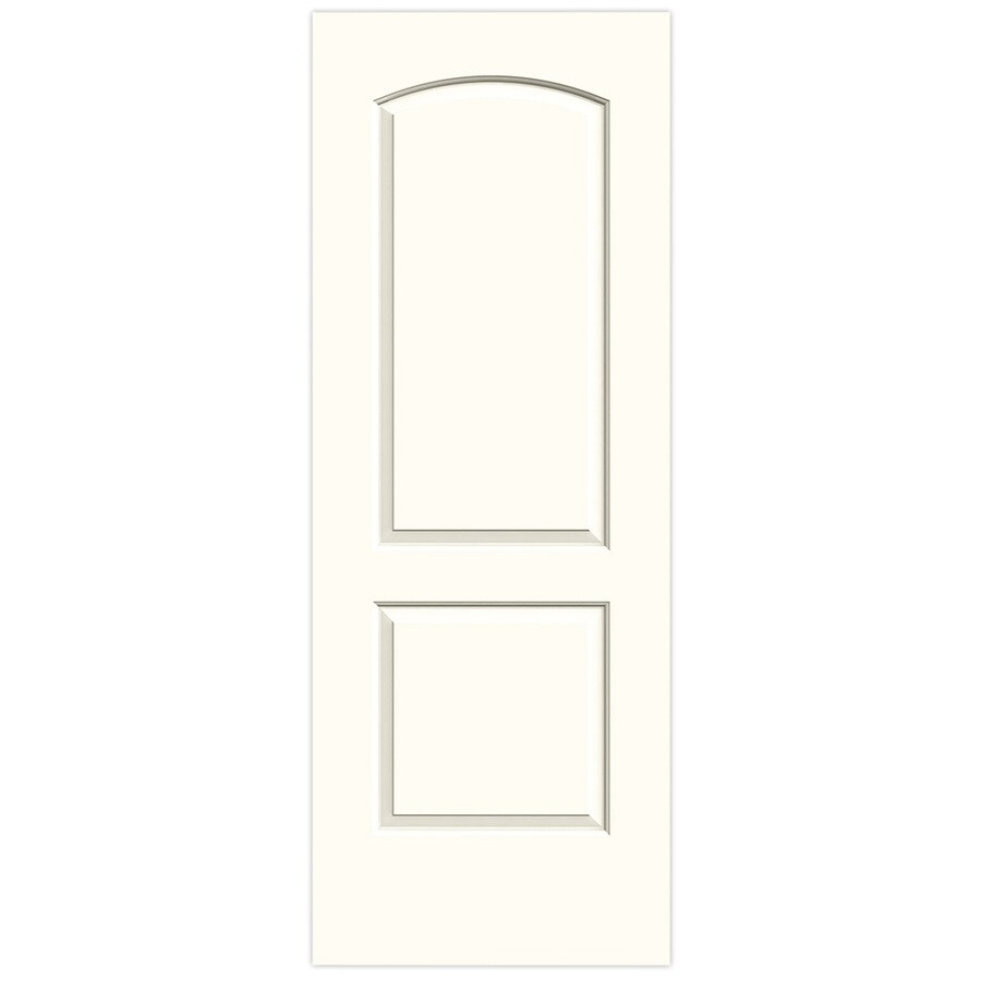 JELD-WEN Moonglow Solid Core 2-Panel Round Top Slab Interior Door (Common: 30-in x 80-in; Actual: 30-in x 80-in)