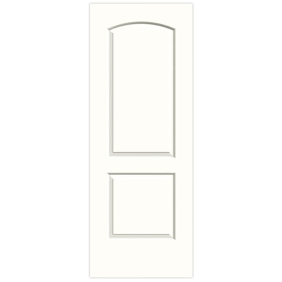 JELD-WEN Snow Storm Solid Core 2-Panel Round Top Slab Interior Door (Common: 32-in x 80-in; Actual: 32-in x 80-in)